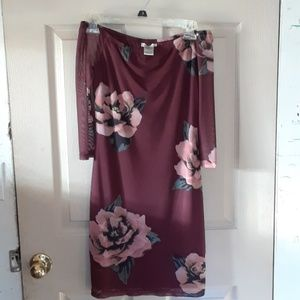 Dresses & Skirts - TIGHT OFF THE SHOULDERS  BURGUNDY DRESS